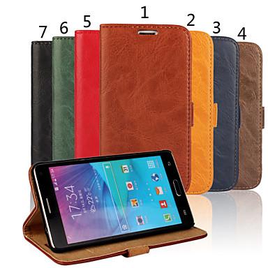 Capinha Para Samsung Galaxy Samsung Galaxy Note Porta-Cartão Carteira Com Suporte Flip Capa Proteção Completa Sólido PU Leather para Note