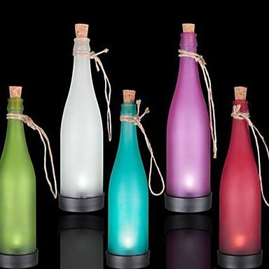 συσκευασία των 5 ηλιακή λάμπα μπουκάλι οδήγησε φωτιστικό την διασπορά φως κρεμαστό κόσμημα πολύχρωμα