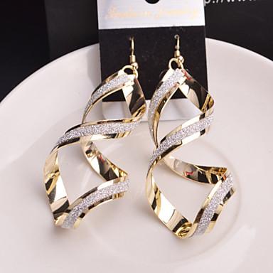 Druppel oorbellen Legering Zilver Gouden Sieraden Voor Bruiloft Feest Dagelijks Causaal 2 stuks
