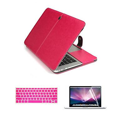 πολυτελές δερμάτινο 3 σε 1 πλήρη περιπτώσεις σώμα με flim πληκτρολόγιο και HD οθόνη προστάτης για MacBook Air 13.3