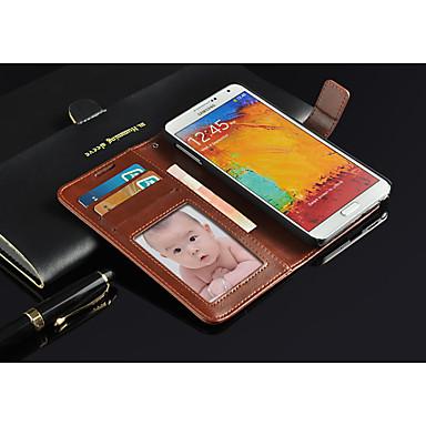 Για Samsung Galaxy Note Θήκες Καλύμματα Πορτοφόλι Θήκη καρτών με βάση στήριξης Ανοιγόμενη Πλήρης κάλυψη tok Συμπαγές Χρώμα PU Δέρμα για