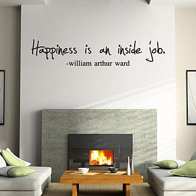 Palavras e Citações Desenho Animado Adesivos de Parede Etiquetas de parede de palavras e citações Autocolantes de Parede Decorativos,
