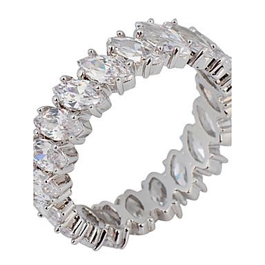 Γυναικεία Band Ring , Κλασσικό Συνθετικοί πολύτιμοι λίθοι Ζιρκονίτης Πριγκίπισσα Κοστούμια Κοσμήματα Γάμου Πάρτι Πάρτι / Βράδυ Καθημερινά