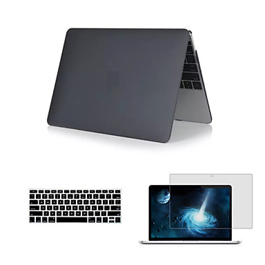 matte 3 in 1 full body case met toetsenbord deksel en hd screen protector voor de nieuwe macbook netvlies 12
