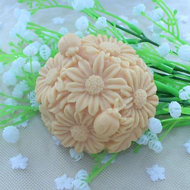 bloem bal dessert decorateur zeep schimmel fondant taart chocolade siliconen mal, decoratie gereedschappen bakvormen