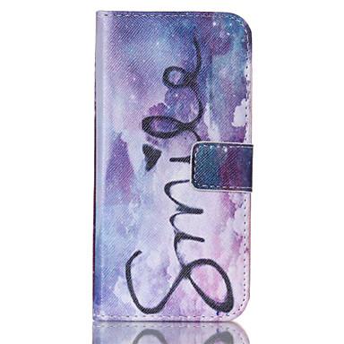 Για Samsung Galaxy Θήκη Θήκη καρτών / Πορτοφόλι / με βάση στήριξης / Ανοιγόμενη tok Πλήρης κάλυψη tok Λέξη / Φράση Συνθετικό δέρμα Samsung