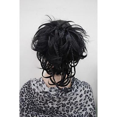 Κουμπωτό Φυσικό Κυματιστό Αλογορουρές Συνθετικός Κομμάτι μαλλιών Hair Extension Σκούρο Καφέ #6 #8 #12 #14
