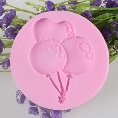 balão bolo fondant em forma de chocolate do molde de silicone, ferramentas de decoração bakeware