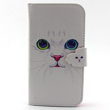 tok Για Samsung Galaxy Samsung Galaxy Θήκη Θήκη καρτών Πορτοφόλι με βάση στήριξης Ανοιγόμενη Πλήρης Θήκη Γάτα PU δέρμα για S5 S4 Mini S3