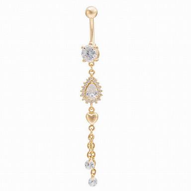 Γυναικεία Κοσμήματα Σώματος Navel & Bell Button Rings Ζιρκονίτης Κοσμήματα Για Καθημερινά Causal
