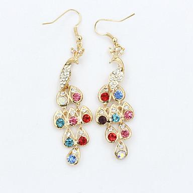 Dames Kristal Strass Verguld Oostenrijks kristal 18K Goud Gesimuleerde diamant Druppel oorbellen - Modieus Europees oorbellen Voor