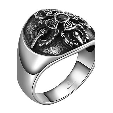 Ανδρικά Δαχτυλίδι Cubic Zirconia Μοντέρνα Ανοξείδωτο Ατσάλι Ζιρκονίτης Cubic Zirconia Τιτάνιο Ατσάλι Επάργυρο Κοσμήματα Καθημερινά Causal