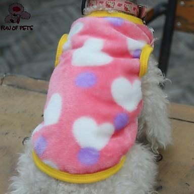 Kat Hond T-shirt Hondenkleding Hart Zwart Roze Fleece Kostuum Voor huisdieren Cosplay Bruiloft