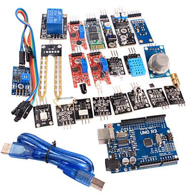 20 en 1 kit capteur de module et version améliorée uno r3 module de carte de ATmega328P pour Arduino