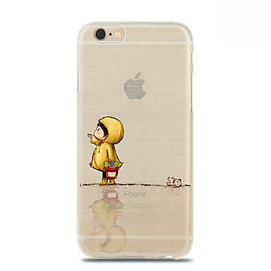 padrão de capa de chuva menina TPU suave para 6s iphone plus / 6 mais