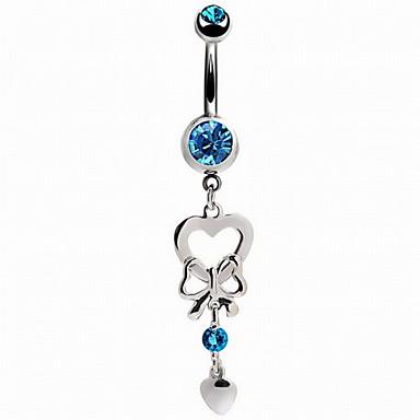 Feminino Bijuteria de Corpo Piercing de Umbigo imitação de diamante Liga Moda Branco Azul Rosa claro Jóias Diário Casual 1peça