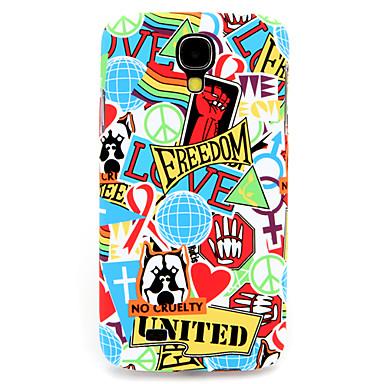 3d persoonlijkheid rode graffiti patroon pc Cover Case voor Samsung Galaxy S4 / 9500