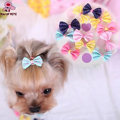 Χαμηλού Κόστους Ρούχα και αξεσουάρ για σκύλους-Γάτα Σκύλος Αξεσουάρ μαλλιών Φιόγκοι Ρούχα για σκύλους Τριανταφυλλί Μπλε Ροζ Μεικτό Υλικό Στολές Για Άνοιξη & Χειμώνας Στολές Ηρώων Γάμος