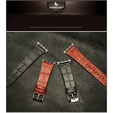 Banda de relogio para relógio de Apple couro de grão de crocodilo e conector para relógio de Apple 38mm 42mm