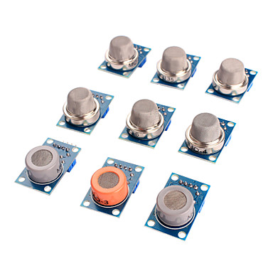sensor de gás módulo kit mq-2 mq-3 mq-4 mq mq-5-6 mq-7 mq-8 mq mq-9-135 sensor para arduino