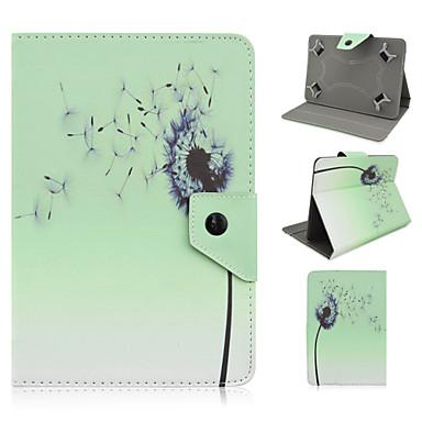 bloemmotief hoge kwaliteit pu leer met standaard case voor 7 inch universele tablet