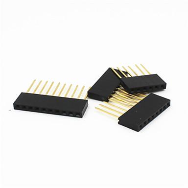 6p / 8p / 10p 2,54 milímetros arremesso 11 milímetros alongar feminino cabeçalho pinos para arduino uno r3