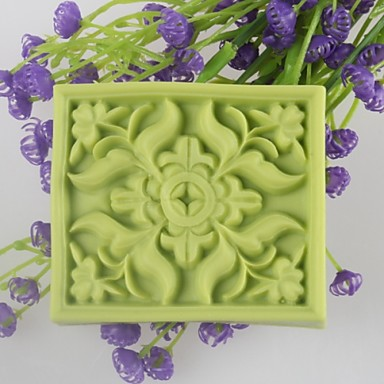 vierkant bloemvormige zeep mallen mooncake schimmel fondant cake chocolade siliconen schimmel, decoratie gereedschap bakvormen