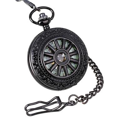 Χαμηλού Κόστους Ανδρικά ρολόγια-Ανδρικά Ρολόι Τσέπης μηχανικό ρολόι Μηχανικό κούρδισμα 30 m Εσωτερικού Μηχανισμού Αναλογικό Πολυτέλεια Steampunk - Μαύρο