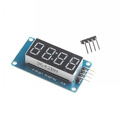 para arduino 4 dígitos levou módulo de exibição levou ponto ajustável blocos de montagem de brilho com relógio