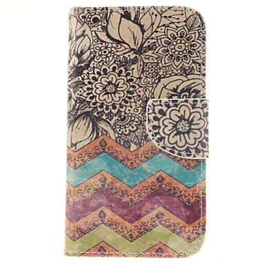 Para Samsung Galaxy Capinhas Porta-Cartão / Carteira / Com Suporte / Flip Capinha Corpo Inteiro Capinha Flor Couro PU Samsung J5
