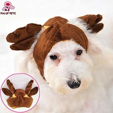 Γάτα Σκύλος Στολές Σύνολα Μπαντάνες & Καπέλα Ρούχα για σκύλους Καφέ Πολική Προβιά Στολές Για κατοικίδια Στολές Ηρώων Γάμος Halloween
