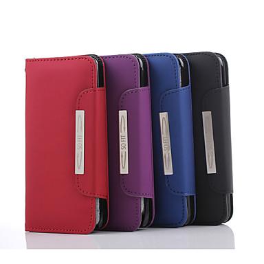 Estojo de couro padrão de linha de mão de alta qualidade pu carteira de 5,5 polegadas para iphone 6s mais (cores sortidas)