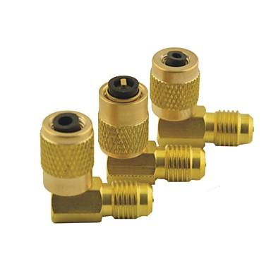 carro ar condicionado 1 / 8pt do sexo feminino para 1 / 8pt masculino ajustável tom de ouro rápida adaptador de conector de engate 8 em 1