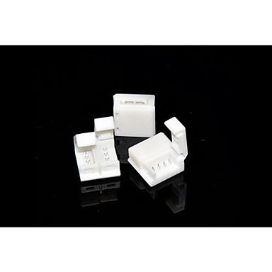 zdm 5pcs 5050 rgb Fâșii de lămpi impermeabile de 10 mm, cu conector fără clemă pentru conexiuni rapide pentru bara de iluminare