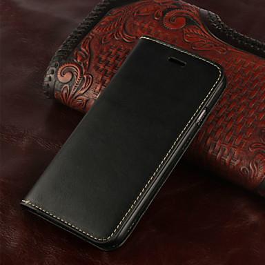 Недорогие Кейсы для iPhone-Кейс для Назначение Apple iPhone 8 Pluss / iPhone 8 / iPhone 7 Plus Кошелек / Бумажник для карт / Флип Чехол Однотонный Твердый Настоящая кожа