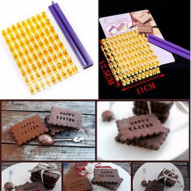 bolo& bolacha de alfabeto moldes tipografia carta cozinha bakewares& jantar
