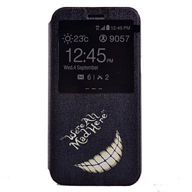 Para Samsung Galaxy Capinhas Com Suporte / com Visor Capinha Corpo Inteiro Capinha Preto & Branco Couro PU Samsung J7 / J5