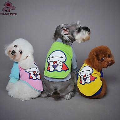 katten / honden Jassen / T-shirt Rood / Geel / Groen / Roze Hondenkleding Lente/Herfst Cartoon Bruiloft / Cosplay