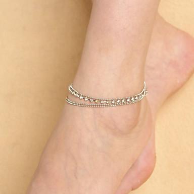 γυναικών χάντρες χαλκού πολυστρωματικές μόδα νύχι anklet αλυσίδα