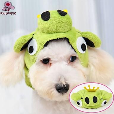 Gato Cachorro Fantasias Roupa Bandanas & Chapéus Roupas para Cães Verde Lã Polar Ocasiões Especiais Para animais de estimação Fantasias