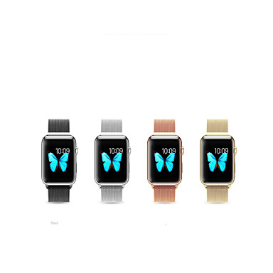 Horlogeband voor Apple Watch Series 3 / 2 / 1 Apple Milanese lus Roestvrij staal Polsband
