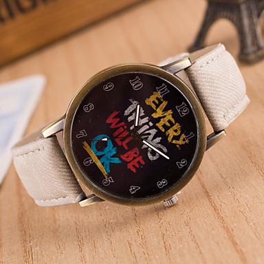 Bărbați Ceas de Mână Ceas Elegant  Ceas La Modă Ceas Sport Quartz Mare Dial Material Bandă Charm Multicolor