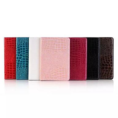 Capinha Para iPad Mini 4 Porta-Cartão Com Suporte Capa Proteção Completa Linhas / Ondas PU Leather para iPad Mini 4