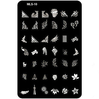 1PCS Nail Art Stamping/Stamper Image Template Plate Nail Stencils/Molds for Acrylic Nail Tips MLS Series No.10