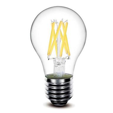 5W E26/E27 Lâmpadas de Filamento de LED G60 6 LEDs COB Regulável Branco Quente 2700lm 2700kK AC 110-130 AC 220-240V