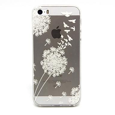 hoesje Voor iPhone 5 hoesje Transparant Achterkantje Paardebloem Zacht TPU voor iPhone SE/5s iPhone 5