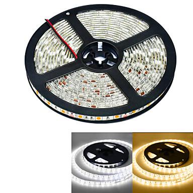 JIAWEN® 5 M 300 5050 SMD Branco Quente / Branco Prova-de-Água 60 W Faixas de Luzes LED Flexíveis DC12 V
