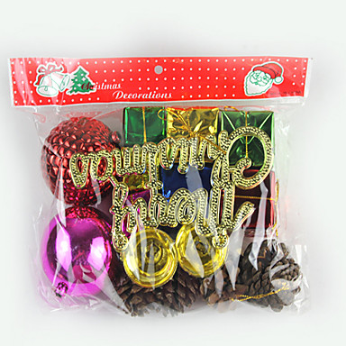 Χριστουγεννιάτικο δέντρο σχολαστικός, μια μεγάλη τσάντα δώρο και ένα μικρό δώρο τσάντα