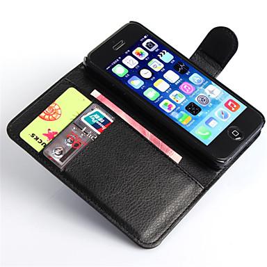 voordelige iPhone 7 hoesjes-hoesje Voor Apple iPhone 8 Plus / iPhone 8 / iPhone 7 Plus Portemonnee / Kaarthouder / met standaard Volledig hoesje Effen Hard PU-nahka
