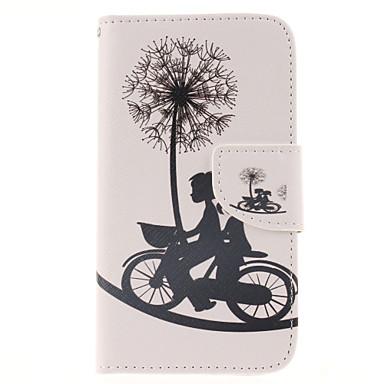 Para Samsung Galaxy Capinhas Porta-Cartão / Carteira / Com Suporte / Flip Capinha Corpo Inteiro Capinha Dente de Leão Couro PU Samsung J5